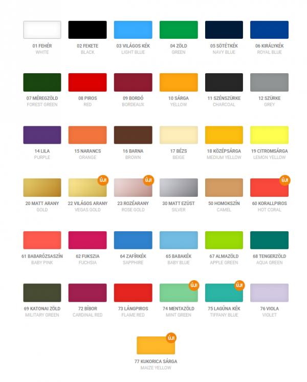 Lehetséges színek